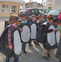 disfraz de pinguino con bolsa