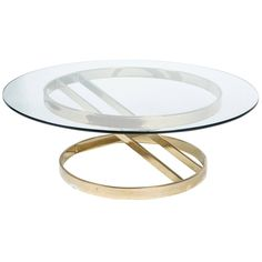 Sculptural Brass Cocktail Table in the Style of Milo Baughman 1