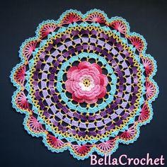 Radiant Rose Mandala Doily: A Free Crochet Pattern For You