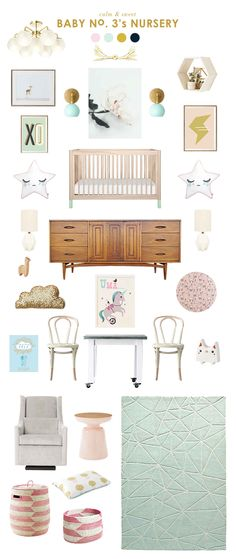 mint green and pink baby room ideas