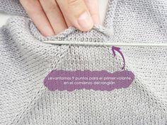 Ruffles Baby Sweater - Knitting Pattern & Tutorial a mano Baby Knitting Patterns, Baby Sweater Knitting Pattern, Knit Baby Sweaters, Knitting Designs, Baby Patterns, Knitting Projects, Knitting Videos, Knitting For Beginners, Drops Paris