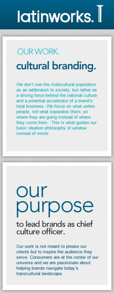 LatinWorks describes itself as Chief Culture Officer to the brand