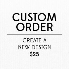 Hey, I found this really awesome Etsy listing at https://www.etsy.com/listing/159012684/custom-order-new-design