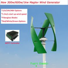 Online Shop 300w 600w 1kw 12v/24v/48v 96v vertical AXIS permanent maglev wind turbine Generator MPPT controller free energy high efficiency | Aliexpress Mobile Vertical Wind Turbine, Solar Car, Diy Magnets, Power Generator, Energy Projects, Alternative Energy, Renewable Energy, Prepping, Earth