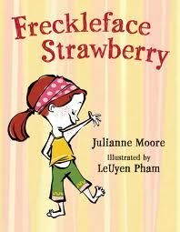Don't forget the reading material. Love this one from Julianne Moore #Strawberry Freckleface