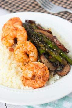 A quick and healthy sheet pan meal that's great for lunch or dinner! This Roasted Asparagus Mushroom Shrimp Sheet Pan Meal is perfect served as is, or spoon it over rice, cauliflower rice or mashed potatoes. This post and recipe is sponsored by Michigan Asparagus. I was compensated for my time but all words and...