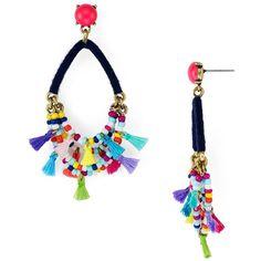 Baublebar Merengue Tassel Drop Earrings ($41) ❤ liked on Polyvore featuring jewelry, earrings, navy, navy earrings, navy jewelry, navy blue drop earrings, navy blue earrings and tassel jewelry