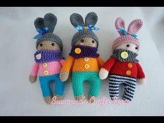 baby in bunny suit crochet - YouTube