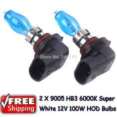 2 x 9005 HB3 12V 6000K 100W Super White Auto Car HOD Halogen Bulbs Lamps Headlight Bulbs for volkswagen lada kia chevrolet