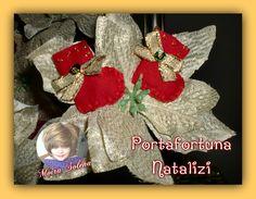 Scarponcini in panno con cent. di euro all'interno. Segna-posto o decorazione per pacchi regalo. https://www.facebook.com/media/set/?set=a.123873557674444.17592.118843074844159&type=3