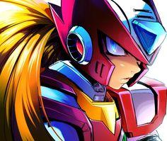 I should get into digital drawing Anime Couples Manga, Cute Anime Couples, Anime Girls, Mega Man, Maverick Hunter, Zero Wallpaper, Megaman Series, Fighting Robots, Man Games