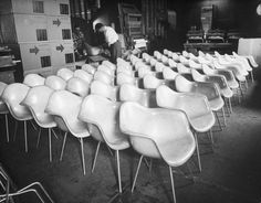 Eames designed chairs, 1950 | x Peter Stackpole for Time & Life