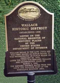 Celebrate the Wallace Historic District - cast bronze plaque by Erie Landmark Company a division of Paul W. Zimmerman Foundries celebrating 75 years of plaques!   Find us on the web at www.erielandmark.com or place an order at info@erielandmark.com.