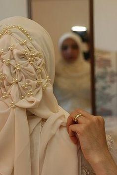 beautiful bridal hijab ❤ hijab style