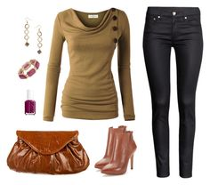 """""""Casual fall outfit"""" by emma-asplund on Polyvore featuring H&M, Corso Como, Lauren Merkin, Dorothy Perkins, Billie & Blossom, Essie, Fall, casual, casualoutfit and fallstyle"""