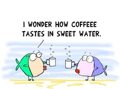 Funny Mug Geeky Girl Fish with Coffee Mugs Office Joke Shirt and Print options