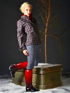 DAV Rainboots | Ashley Black& Red Ombre Boots