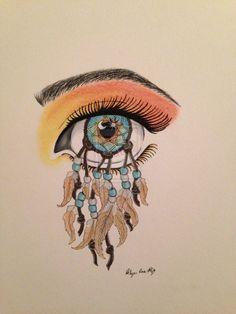 Dreamcatcher eye by krfrietze.deviantart.com on @deviantART