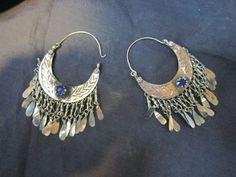 Afghan Jewelry, earnings made of German silver.