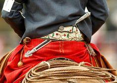 Rastra y Facon- Gaucho Rio Grande Do Sul, Equestrian Chic, Spanish Culture, Saddles, Facon, Cowboys, Vibrant Colors, Glamour, Patagonia