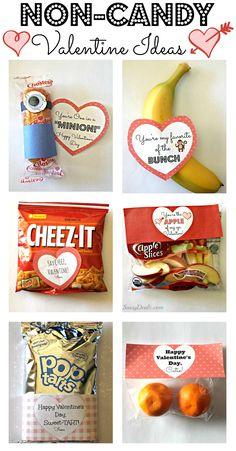 Non-Candy Valentine's Day Gift Bag Ideas For Kids | Healthy Valentines | Class valentines via @craftymorning0
