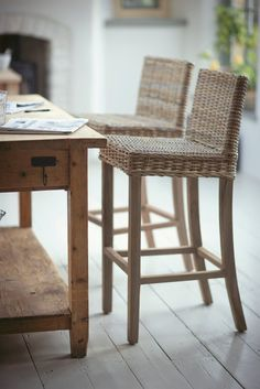 Daisy Hardcastle Hamble Bar Stool - Rattan/Teak