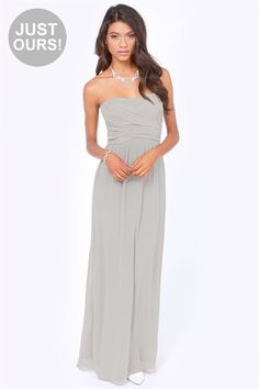 Gorgeous grey maxi dress - Yahoo Image Search Results