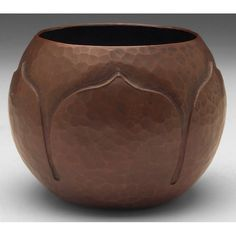 "Roycroft - Vase. Hammered Copper. East Aurora, New York. 3-1/2"" x 4""."
