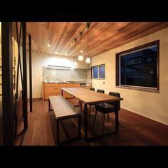ikpさんの、キッチン,アンティーク,リノベーション,リメイク家具,古材×アイアン,ikp,古材家具,ダイニングテーブル&ベンチ,関本家具,のお部屋写真