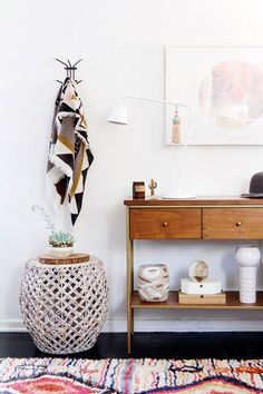neutral foyer design — via @TheFoxandShe
