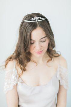 Dainty Bridal Tiara by abigailgracebridal Etsy listing at https://www.etsy.com/listing/501012675/dainty-art-deco-crystal-bridal-tiara