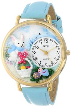 Whimsical Watches Women's G-1220016 Easter Eggs Light Blue Leather Watch - http://www.artistic-watches.com/2015/03/06/whimsical-watches-womens-g-1220016-easter-eggs-light-blue-leather-watch/