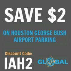 IAH Houston George Bush Airport Parking Coupon