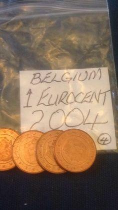 Belgian 1 Euro Cent 1c Coins Belgium Holland Dutch
