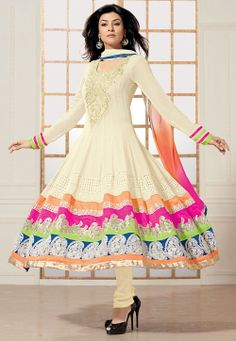 #Georgette #Anarkali Churidar Kameez