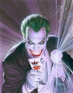 The Joker by Alex Ross - OH IDK. JUST ONE OF THE BEST COMIC BOOK ARTISTS OF ALL TIME. I MEAN DAMN, LOOK AT IT.