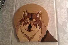 wolf intarsia      #wood  #wolf  #intarsia