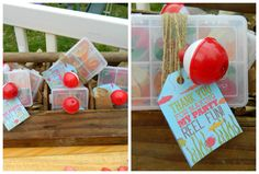 camping and fishing themed party foods   fishing party favors