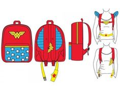Batman And Wonder Woman Costume Backpacks May Herald The Fashion Future