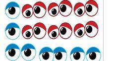 As cartelas com olhinhos que estou postando são para você imprimir e utilizar nas mais diversas atividades de artes, com os pequeninos!...
