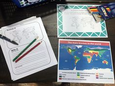 Students will create a world map of the major biomes on Earth at this station.