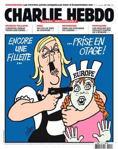 Charlie-Hebdo - La une de la semaine par Cabu - semaine du 21 mai 2014 #politique #Europe #otage #FN #satire #élections