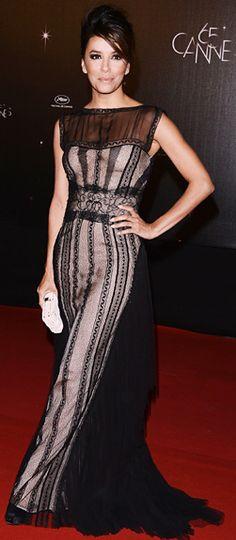 f9c40bf579 Eva Longoria wearing Alberta Ferretti.
