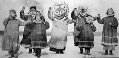 Danses dels Inuït amb màscares i quina semblança més gran tenen amb els nostres caps grossos!