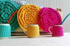 Propuestas deco tejidas a crochet Para sumarle aún mayor calidez al mate, la propuesta de Casa La Querida.