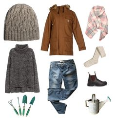 """""""Seathwaite Hat - Fall Garden"""" by kelbourne on Polyvore featuring Carhartt, Blundstone, Levi's and H&M"""