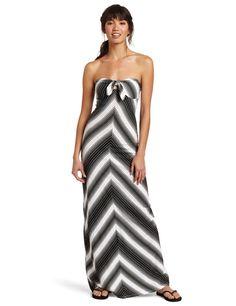 Roxy Juniors Desert Beach Strapless Maxi Dress