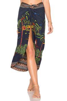 FARM Life River Pareo Skirt in Navy Multi | REVOLVE