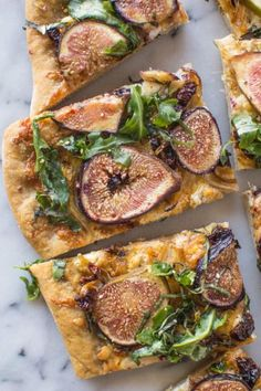 Fig, cheese and onion pizza: http://www.stylemepretty.com/living/2015/07/24/three-cheese-fig-and-onion-pizza/ | Recipe: Healthy Nibbles & Bits - http://healthynibblesandbits.com/