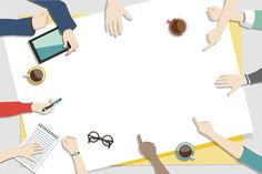 Illustration of brainstorming teamwork Free Vector Powerpoint Background Design, Powerpoint Design Templates, Background Powerpoint, Management Information Systems, Free Frames, Watercolor Background, Presentation Design, Motion Design, Teamwork